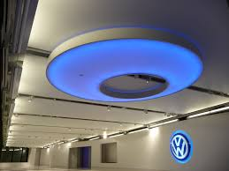 Newmat Light Stretched Ceiling by 18 Stretch Ceiling Cloud Systems Volkswagen Headquarters