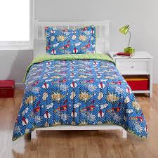 Bedding Wonderful Super Hero Bedding Quilt Set Walmart