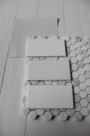 benjamin wickham gray with subway tile hex floor tile we