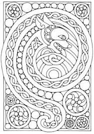 Find This Pin And More On Coloriages Awesome Celtic Dragon Coloring