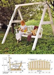 Wooden Garden Swing Seat Plans by 174 Best Outdoor Furniture Plans Images On Pinterest Outdoor