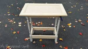 Make A Small End Table by Cabinet Door Table Easy Build My Repurposed Life