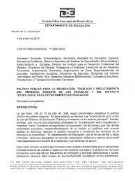 Carta Circular 720092010 Nombramiento Reubicacion y Traslados