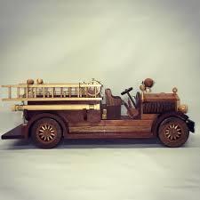 100 Wood Powered Truck Handmade Model Fire Truck Artist Woodwork Design Truck