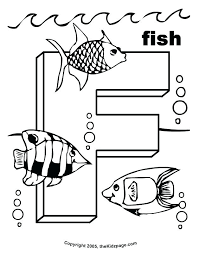 Letter Coloring Sheets Printable F Is For Fish Free Pages Kids Colouring