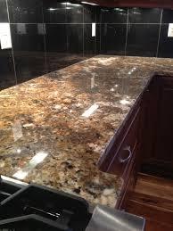 black granite tile countertops kitchen island with granite tile