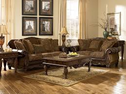 FurnitureMajestic Traditional Living Room Table Furniture With Impressive Carving And Wall Mirror