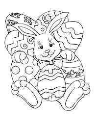 Easter Egg Pictures Coloring Pages Free Printable Bible Easy Bunny Eggs Christian