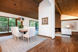 Living Room With Fireplace In The Middle by Midcentury Ralph Anderson Home Listed On Mercer Island For 1 6