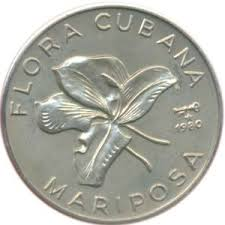 1 Peso Cuban Flower