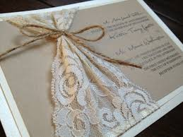Lace And Twine Wedding Invitation Rustic Elegance Kraft Ivory Chic