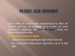 Berner Air Curtain Distributors by Mars Lo Pro Series Air Curtains