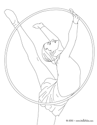 Hoop Individual All Around Rythmic Gymnastics Coloring Pages For