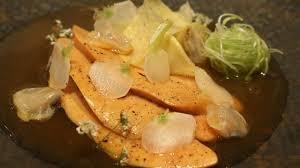 cuisiner un foie gras cru recette de foie gras poché bouillon de crevettes grises