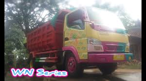 Dump Truck Modifikasi Pink WN PUTRI - YouTube