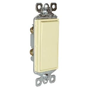 Pass and Seymour Decorator Light Switch - Ivory, 15 Amp