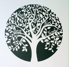 Paper Cut Tree Template
