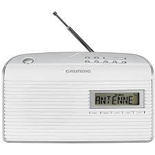 grundig 61 empfangsstarkes radio weiß silber