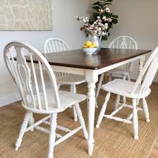Ideal Distressed Kitchen Table Small White Dining Country Cottage Furniture Farmhouse