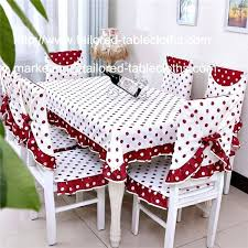 Dining Room Chair Back Covers Cotton Tablecloth And Cover Set For