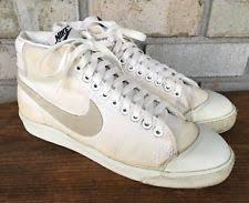 Vtg Nike Blazer High Top Sneakers Shoes Canvas 80s 1981 Womens Sz 8 White