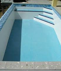 pool waterline tile ideas the new blue pool pool and patio