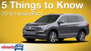5 things to know about the 2016 honda pilot youtube