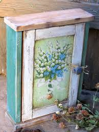 Vintage Style Key Box Handmade Holder Wooden Cabinet Hanger Rustic Country Decor Decoupage Fall