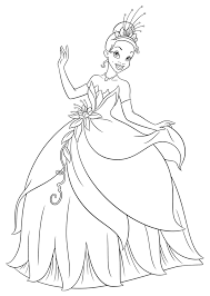 Picture Princess Tiana Coloring Pages 34 With Additional Online