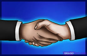 How To Draw Shaking Hands