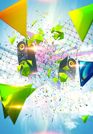 Colorful Party Poster Background Material Creative Design Image