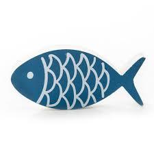 1 stück lustiger bemalter holz fisch zier fisch deko fisch