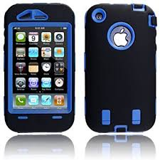 Amazon iFrogz Luxe Case for iPhone 3G 3GS Blue Black Cell