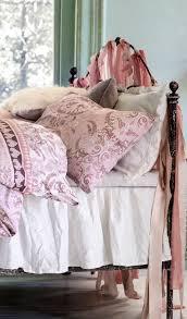 rosa vintage schlafzimmer ideen kissen