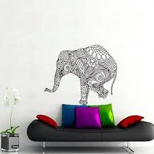Wall Decals Elephant Indian Pattern Yoga Decal Vinyl Sticker Decor Home Interior Design Murals Bedroom Dorm