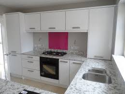Our Show House Kitchen With Bespoke Glass Splashback Giving That Hint Of Colour By Kitchens