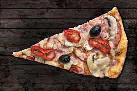 Pizza Slice Pizza Slice Ham Cheese Top