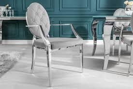 riess ambiente esszimmerstuhl modern barock edel grau mit samt bezug kaufen otto