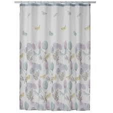 Butterfly Curtain Rod Kohls by One Home Brand Enchanted Garden Printed Shower Curtain Collection
