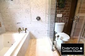 herringbone mosaic tile bathroom with carrara bianco 6x12 carrara