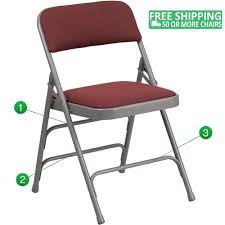 Advantage Grey Padded Metal Folding Chair - Pattern Burgundy 1-in Fabric  Seat [AW-MC309AF-BG-GG] Gci Outdoor Quikeseat Folding Chair Junior New York Seat Design 550 Each 6pcscarton Offisource Steel Chairs With Padded And Back National Public Seating Grey Plastic Safe Set Of 4 50x80 Cm Camping Fishing Portable Beach Garden Cow Print Wood Brown Color 4pk Chair Terje Black Replacement Vinyl Pad For Resin Wooden Seat Over Isolated White Background Mahogany