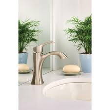 Moen Bathroom Sink Faucets by Moen Voss One Handle High Arc Bathroom Faucet With Drain Assembly