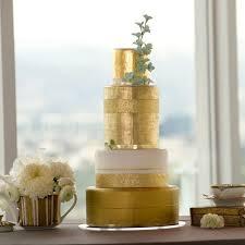 A Gilded Gold Wedding Cake Yes Please Photo Best Coast