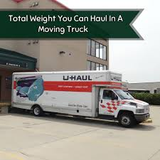 Total Weight You Can Haul In A Moving Truck - Moving Insider