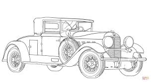 Old Fashioned Car Coloring Page