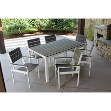Shop Winston 7pc White And Grey Aluminum/Wood Outdoor Dining Set ... Bella All Weather Wicker Patio Ding Set Seats 6 Maribella White Modern Outdoor Eurway Marquesas 7pc Tortuga Polywood La Casa Cafe Commercial Collections 5piece Wrought Iron Fniture 4 12 Seater Table Kf87 Roccommunity Tommy Bahama Misty Garden French Country Glass Top Metal Roundup Emily Henderson Signature Design By Ashley Marsh Creek 7piece Dublin Ireland Lisbon 220cm 8 Seat Catalina Chairs Temple Webster