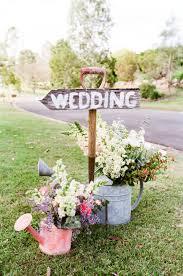 Wooden Handled Shovel Wedding Decor