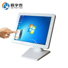 ordinateur de bureau tactile 15 pouce résolution 1024x768 blanc boîtier métallique tout dans un