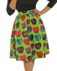Apple Help Desk Uk by Pryia U0027 Bad Apple Print Green Swing Skirt Vintage Inspired