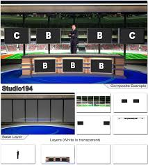 Virtual Set Studio 194 For HD Is A Sports News Desk With Optional